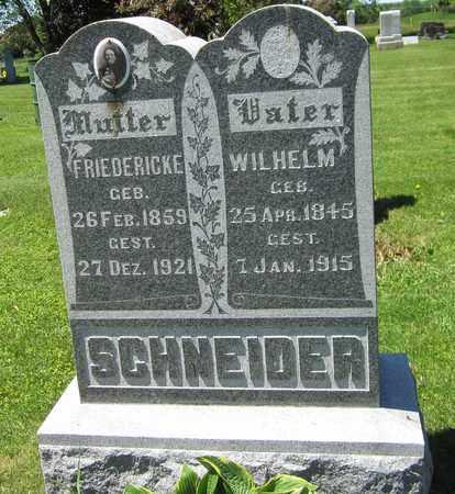SCHNEIDER, FRIEDERICKE - Kewaunee County, Wisconsin   FRIEDERICKE SCHNEIDER - Wisconsin Gravestone Photos