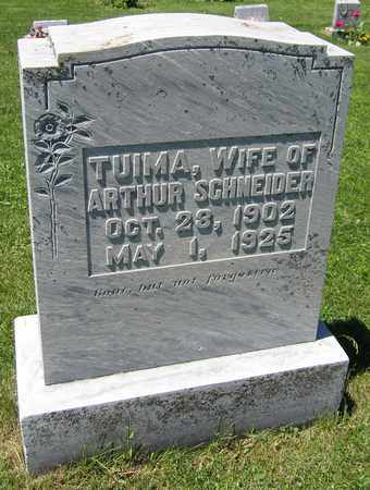 SCHNEIDER, TUIMA - Kewaunee County, Wisconsin   TUIMA SCHNEIDER - Wisconsin Gravestone Photos
