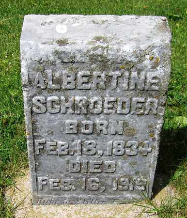 SCHROEDER, ALBERTINE - Kewaunee County, Wisconsin | ALBERTINE SCHROEDER - Wisconsin Gravestone Photos