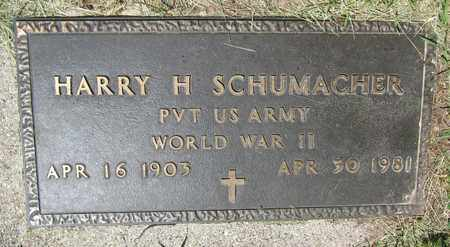 SCHUMACHER, HARRY H. - Kewaunee County, Wisconsin | HARRY H. SCHUMACHER - Wisconsin Gravestone Photos