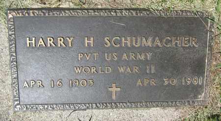 SCHUMACHER, HARRY H. - Kewaunee County, Wisconsin | HARRY H. SCHUMACHER - Wisconsin Gravestone Photos