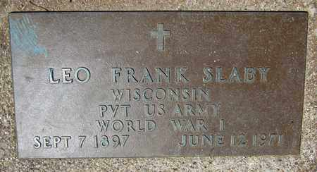 SLABY, LEO FRANK - Kewaunee County, Wisconsin   LEO FRANK SLABY - Wisconsin Gravestone Photos