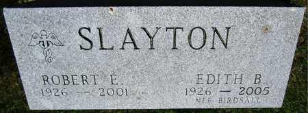 SLAYTON, ROBERT E. - Kewaunee County, Wisconsin | ROBERT E. SLAYTON - Wisconsin Gravestone Photos