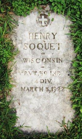 SOQUET, HENRY - Kewaunee County, Wisconsin | HENRY SOQUET - Wisconsin Gravestone Photos