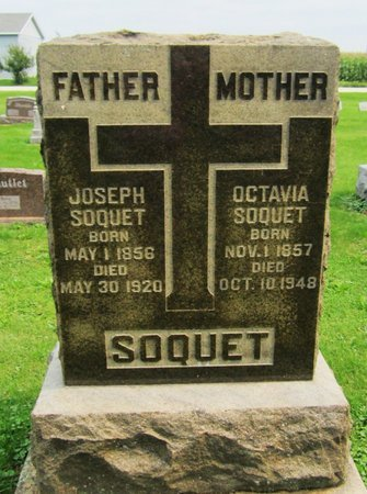 SOQUET, OCTAVIA - Kewaunee County, Wisconsin | OCTAVIA SOQUET - Wisconsin Gravestone Photos