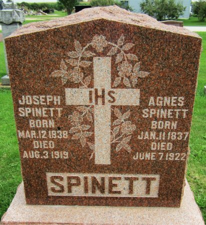 SPINETT, AGNES - Kewaunee County, Wisconsin | AGNES SPINETT - Wisconsin Gravestone Photos