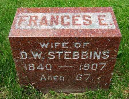 STEBBINS, FRANCES E. - Kewaunee County, Wisconsin | FRANCES E. STEBBINS - Wisconsin Gravestone Photos