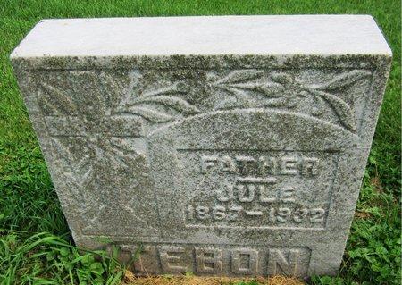 TEBON, JULE - Kewaunee County, Wisconsin   JULE TEBON - Wisconsin Gravestone Photos