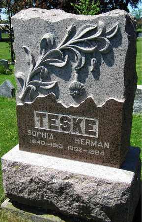 TESKE, SOPHIA - Kewaunee County, Wisconsin | SOPHIA TESKE - Wisconsin Gravestone Photos