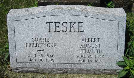 TESKE, ALBERT AUGUST HELMUTH - Kewaunee County, Wisconsin | ALBERT AUGUST HELMUTH TESKE - Wisconsin Gravestone Photos