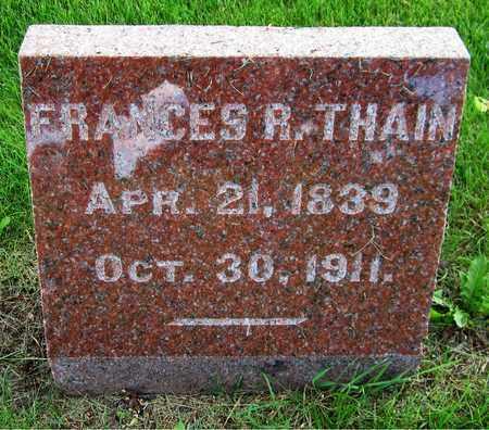 THAIN, FRANCES R. - Kewaunee County, Wisconsin | FRANCES R. THAIN - Wisconsin Gravestone Photos