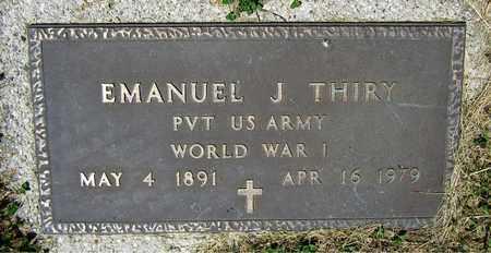 THIRY, EMANUEL J. - Kewaunee County, Wisconsin | EMANUEL J. THIRY - Wisconsin Gravestone Photos