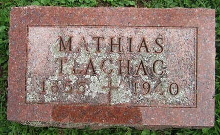 TLACHAC, MATHIAS - Kewaunee County, Wisconsin | MATHIAS TLACHAC - Wisconsin Gravestone Photos