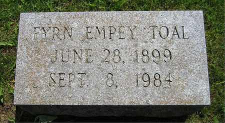 EMPEY TOAL, FYRN - Kewaunee County, Wisconsin | FYRN EMPEY TOAL - Wisconsin Gravestone Photos