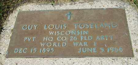 TOSELAND, GUY LOUIS - Kewaunee County, Wisconsin | GUY LOUIS TOSELAND - Wisconsin Gravestone Photos