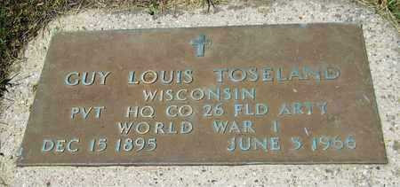 TOSELAND, GUY LOUIS - Kewaunee County, Wisconsin | GUY LOUIS TOSELAND - Wisconsin Gravestone Photos