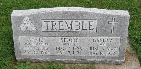 TREMBLE, ISADORE - Kewaunee County, Wisconsin | ISADORE TREMBLE - Wisconsin Gravestone Photos