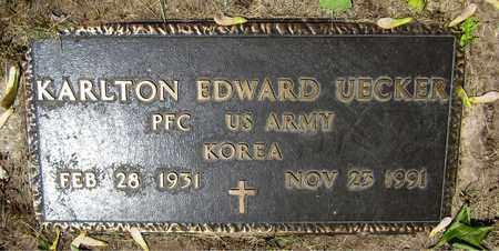 UECKER, KARLTON EDWARD - Kewaunee County, Wisconsin | KARLTON EDWARD UECKER - Wisconsin Gravestone Photos