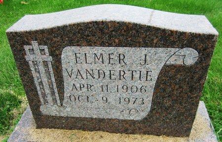 VANDERTIE, ELMER - Kewaunee County, Wisconsin | ELMER VANDERTIE - Wisconsin Gravestone Photos