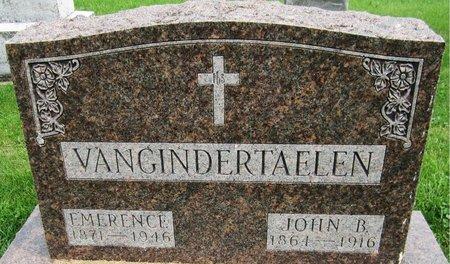 VANGINDERTAELEN, EMERENCE - Kewaunee County, Wisconsin   EMERENCE VANGINDERTAELEN - Wisconsin Gravestone Photos