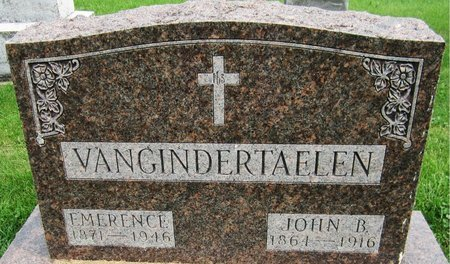 VANGINDERTAELEN, EMERENCE - Kewaunee County, Wisconsin | EMERENCE VANGINDERTAELEN - Wisconsin Gravestone Photos