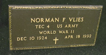 VLIES, NORMAN F. - Kewaunee County, Wisconsin | NORMAN F. VLIES - Wisconsin Gravestone Photos