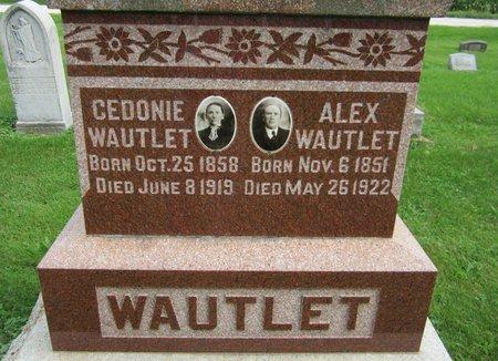 WAULET, ALEX - Kewaunee County, Wisconsin | ALEX WAULET - Wisconsin Gravestone Photos