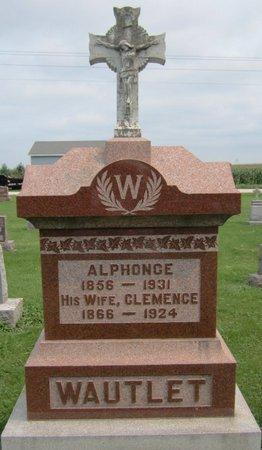 WAUTLET, ALPHONSE - Kewaunee County, Wisconsin | ALPHONSE WAUTLET - Wisconsin Gravestone Photos