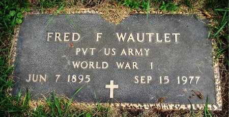 WAUTLET, FRED F. - Kewaunee County, Wisconsin | FRED F. WAUTLET - Wisconsin Gravestone Photos