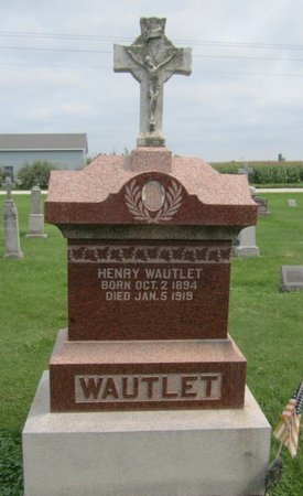 WAUTLET, HENRY - Kewaunee County, Wisconsin | HENRY WAUTLET - Wisconsin Gravestone Photos