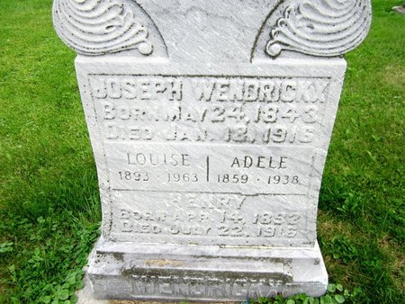 WENDRICKX, JOSEPH - Kewaunee County, Wisconsin | JOSEPH WENDRICKX - Wisconsin Gravestone Photos