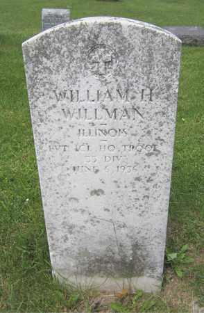 WILLMAN, WILLIAM H. - Kewaunee County, Wisconsin | WILLIAM H. WILLMAN - Wisconsin Gravestone Photos