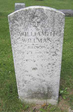 WILLMAN, WILLIAM H. - Kewaunee County, Wisconsin | WILLIAM H. WILLMAN - Wisconsin Gravestone Photos