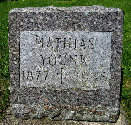YOUNK, MATHIAS - Kewaunee County, Wisconsin | MATHIAS YOUNK - Wisconsin Gravestone Photos