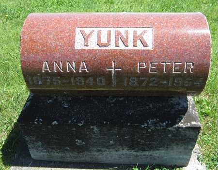 YUNK, PETER - Kewaunee County, Wisconsin | PETER YUNK - Wisconsin Gravestone Photos