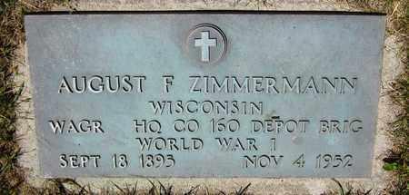 ZIMMERMANN, AUGUST F. - Kewaunee County, Wisconsin | AUGUST F. ZIMMERMANN - Wisconsin Gravestone Photos