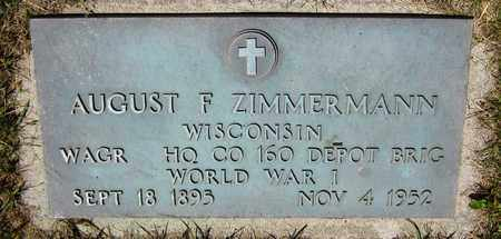 ZIMMERMANN, AUGUST F. - Kewaunee County, Wisconsin | AUGUST F. ZIMMERMANN - Wisconsin Gravestone Photos