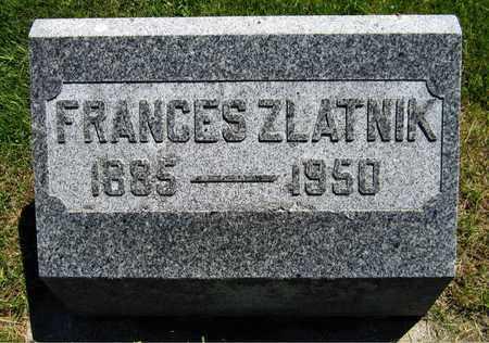 ZLATNIK, FRANCES - Kewaunee County, Wisconsin   FRANCES ZLATNIK - Wisconsin Gravestone Photos