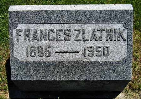 ZLATNIK, FRANCES - Kewaunee County, Wisconsin | FRANCES ZLATNIK - Wisconsin Gravestone Photos