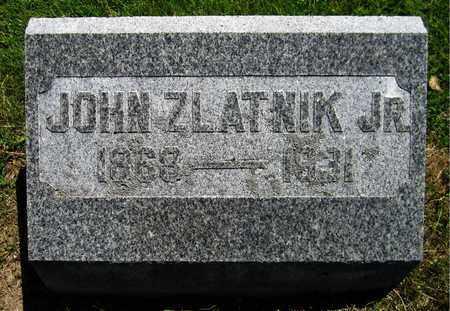 ZLATNIK, JOHN, JR. - Kewaunee County, Wisconsin | JOHN, JR. ZLATNIK - Wisconsin Gravestone Photos