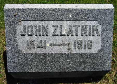 ZLATNIK, JOHN - Kewaunee County, Wisconsin | JOHN ZLATNIK - Wisconsin Gravestone Photos