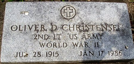 CHRISTENSEN, OLIVER DORSEY - Rock County, Wisconsin | OLIVER DORSEY CHRISTENSEN - Wisconsin Gravestone Photos