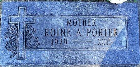 PORTER, ROINE A. - Rock County, Wisconsin | ROINE A. PORTER - Wisconsin Gravestone Photos