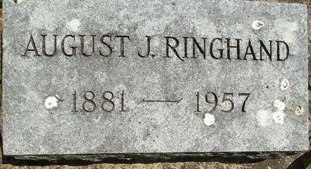 RINGHAND, AUGUST JULIUS - Rock County, Wisconsin | AUGUST JULIUS RINGHAND - Wisconsin Gravestone Photos