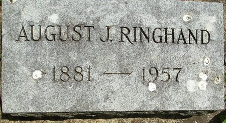 RINGHAND, AUGUST JULIUS - Rock County, Wisconsin | AUGUST JULIUS RINGHAND - Wisconsin Gravestone Photos