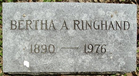 FENTEN RINGHAND, BERTHA A. - Rock County, Wisconsin   BERTHA A. FENTEN RINGHAND - Wisconsin Gravestone Photos