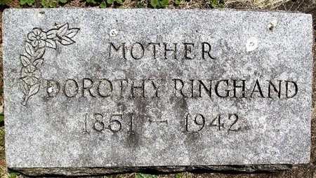 RINGHAND, DOROTHY SOPHIA - Rock County, Wisconsin | DOROTHY SOPHIA RINGHAND - Wisconsin Gravestone Photos