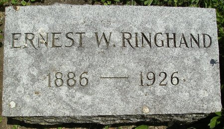 RINGHAND, ERNEST WILLIAM - Rock County, Wisconsin | ERNEST WILLIAM RINGHAND - Wisconsin Gravestone Photos