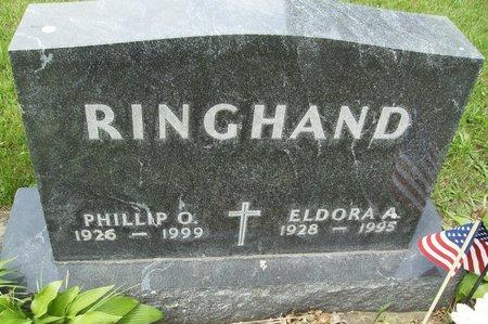 SIMONSON RINGHAND, ELDORA ARLENE - Rock County, Wisconsin | ELDORA ARLENE SIMONSON RINGHAND - Wisconsin Gravestone Photos