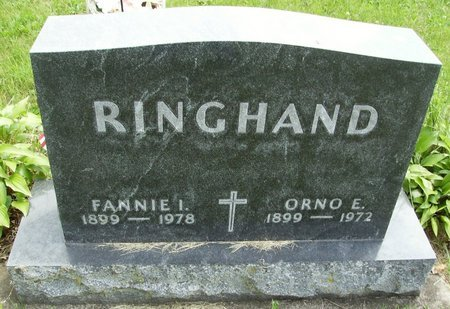 RINGHAND, FANNIE INGLES - Rock County, Wisconsin | FANNIE INGLES RINGHAND - Wisconsin Gravestone Photos